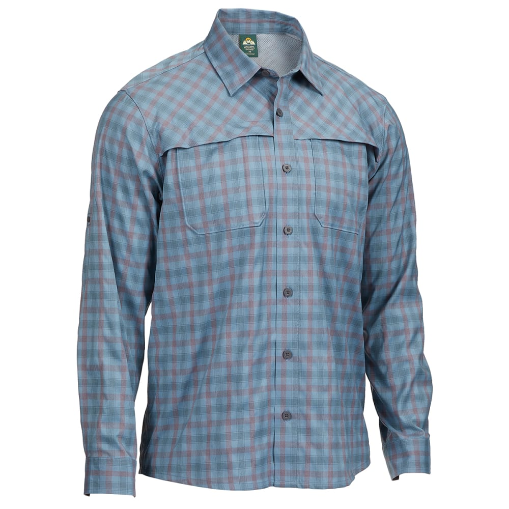 EMS Men's Journey Plaid Long-Sleeve Shirt S