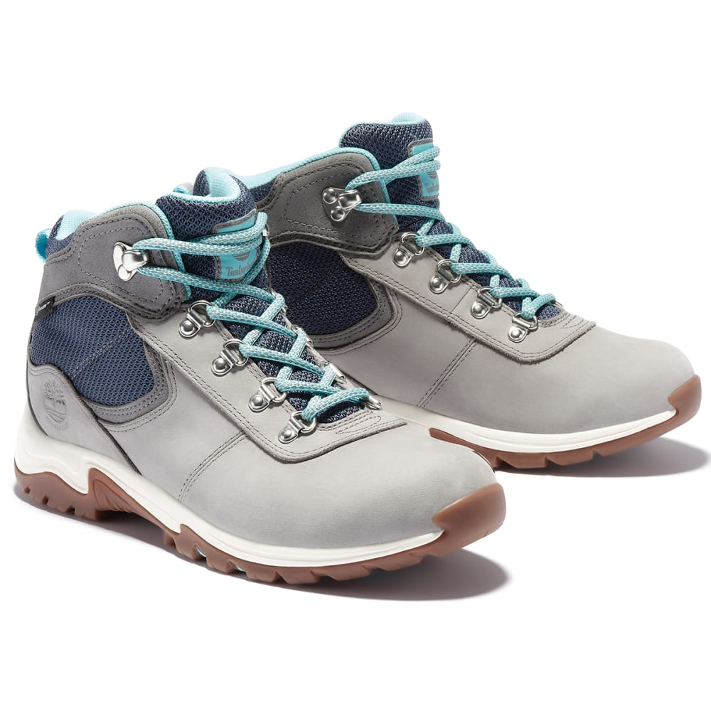 TIMBERLAND Women's Mt. Maddsen Mid Waterproof Hiking Boots - MED GREY