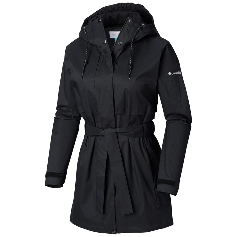 COLUMBIA Women's Pardon My Trench Rain Jacket - 010 BLACK