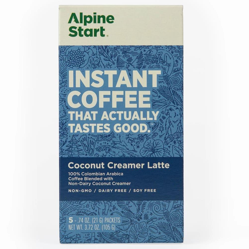 ALPINE START Instant Coffee, Non-Dairy Coconut Creamer Latte - NO COLOR