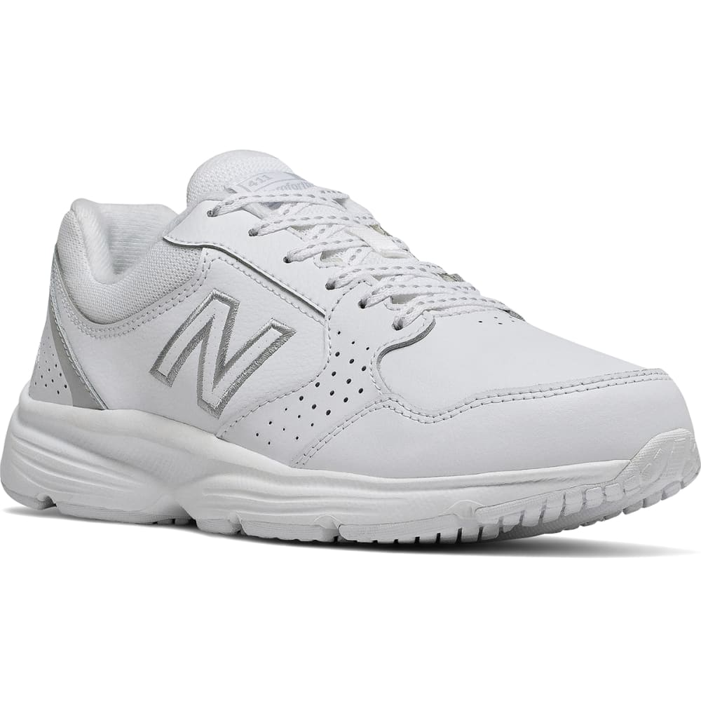 NEW BALANCE Women's 411 Walking Shoes - WHT-WA411LW1