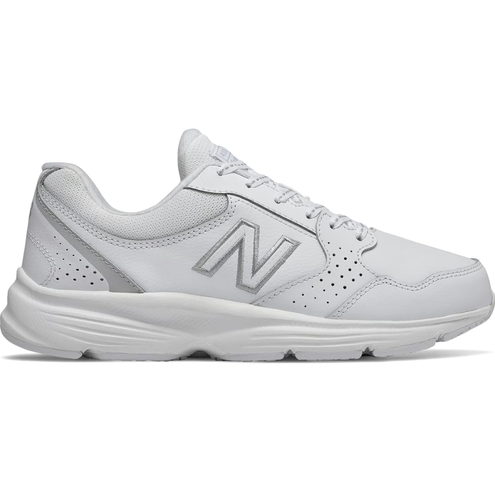 NEW BALANCE Women's 411 Walking Shoes, Wide - WHT-WA411LW1-WIDE