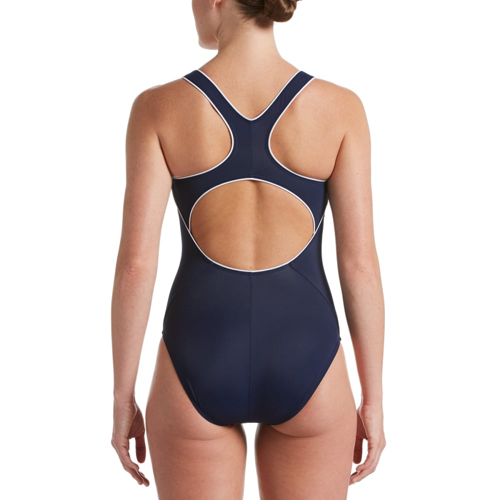 NIKE Women's Laser Crossback One Piece Swimsuit - 440 MIDNIGHT NAVY