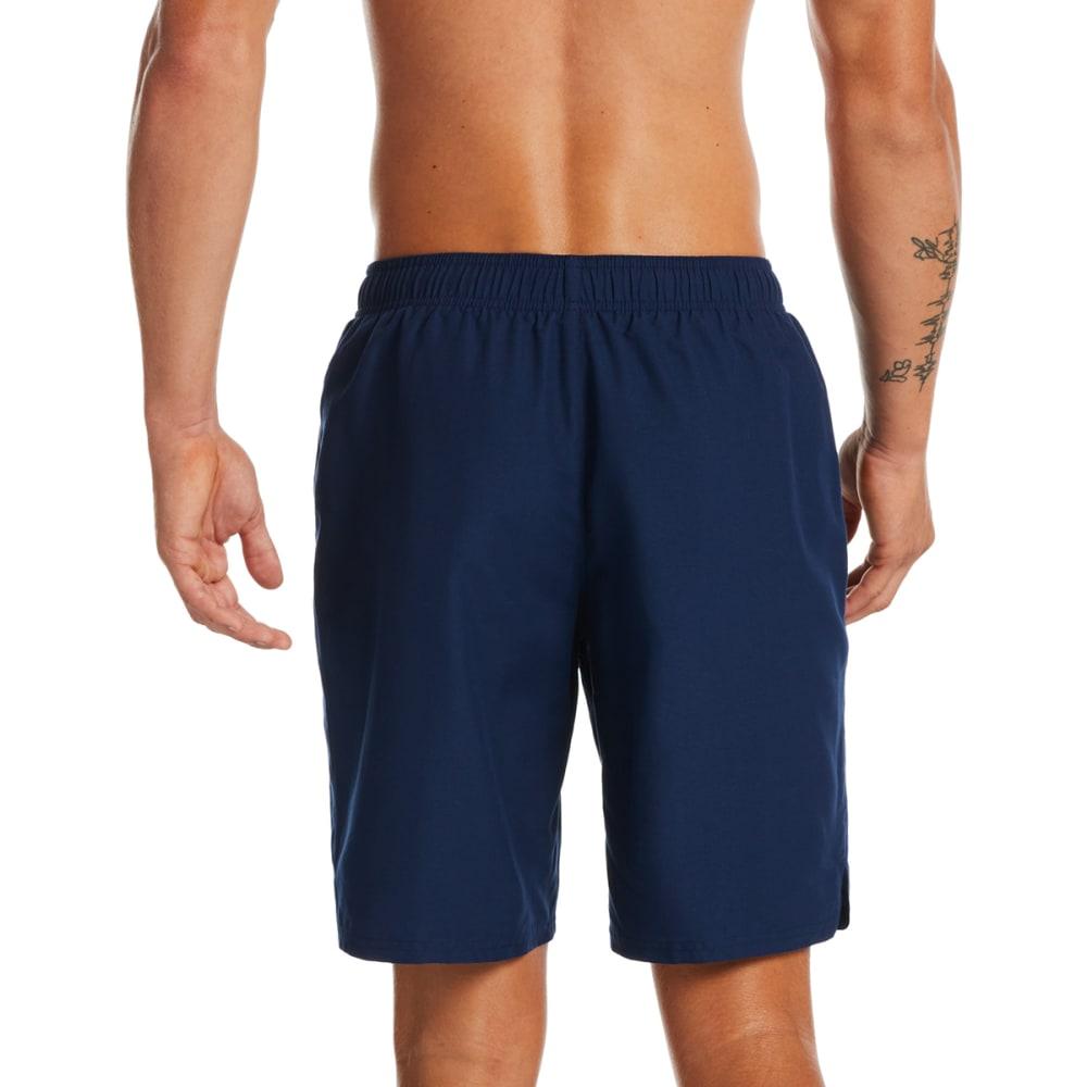 "NIKE Men's Solid Lap 9"" Volley Swim Shorts - 440 MIDNIGHT NAVY"