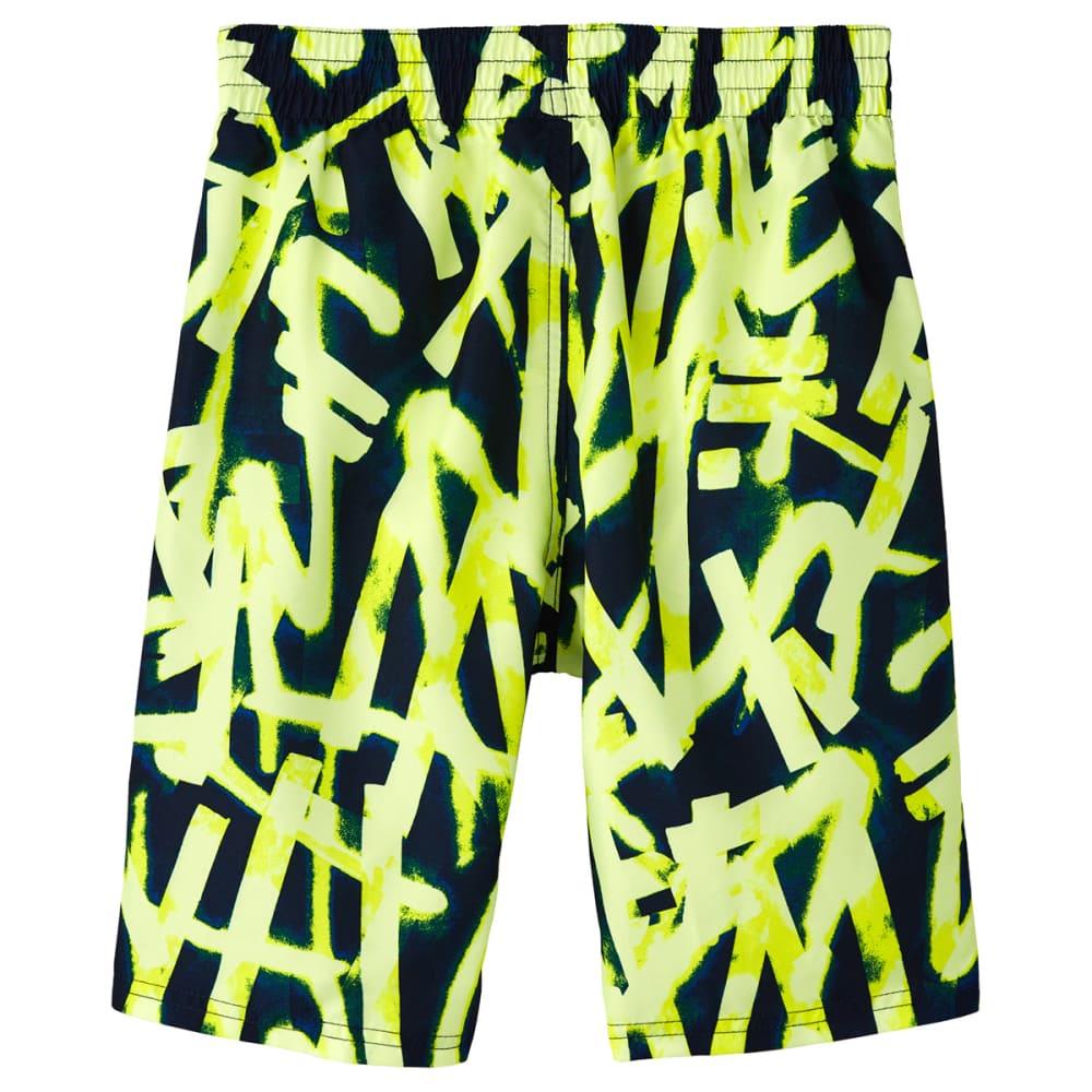 """NIKE Boys' Glow 8"""" Volley Swim Shorts - 731 LEMON VENOM"""