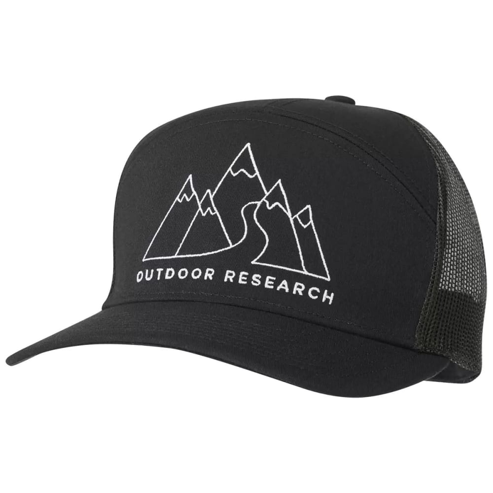 OUTDOOR RESEARCH Men's Mt. Doodle Trucker Hat - 0001 BLACK