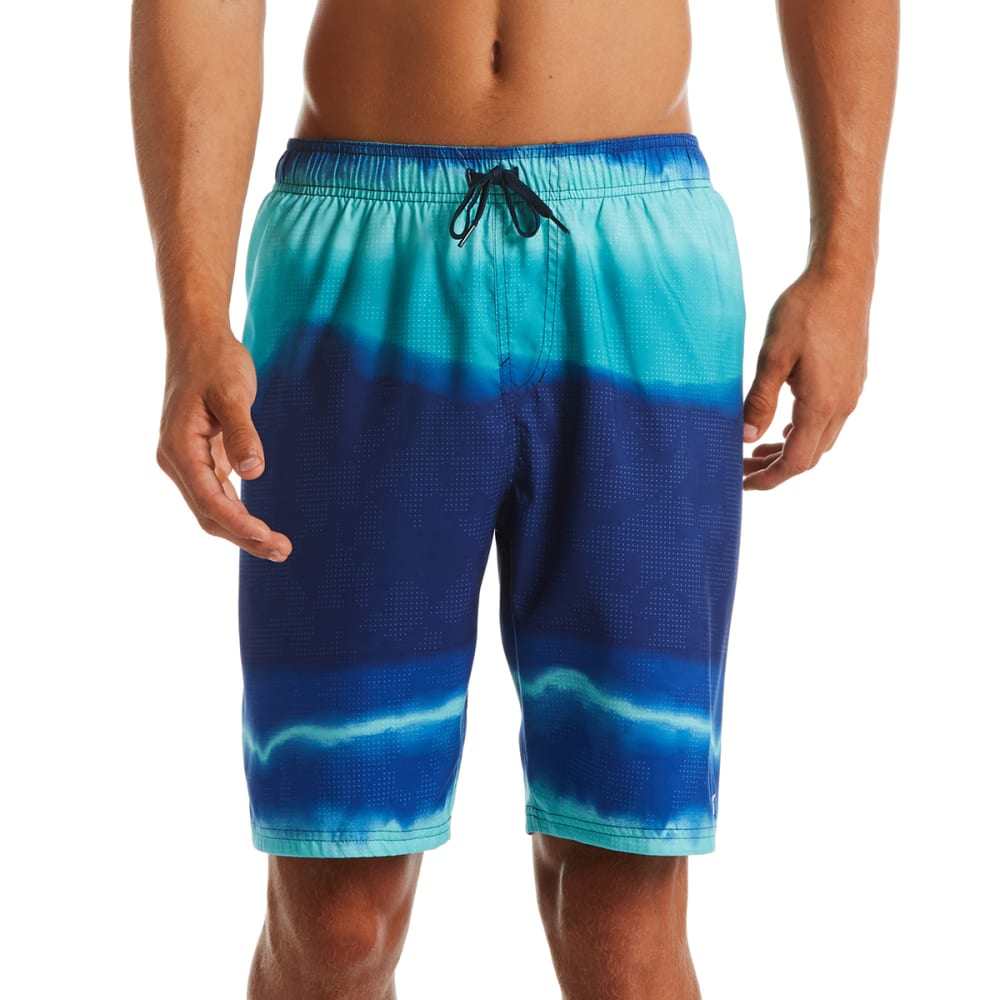 "NIKE Men's Optic Halo Horizon 9"" Swim Shorts XL"