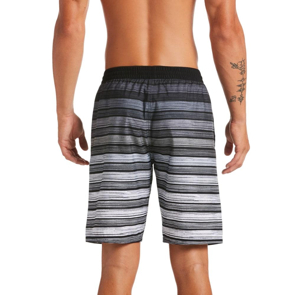 """NIKE Men's Strped Breaker 9"""" Volley Swim Shorts - 001 BLACK"""
