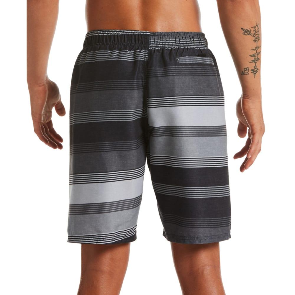 "NIKE Men's Linen Stripe 9"" Volley Swim Shorts - 001 BLACK"