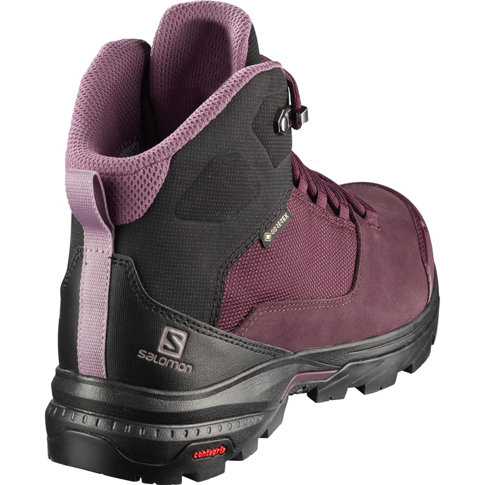 SALOMON Women's Outward GTX Waterproof Hiking Boots - WINETASTING/ BLACK