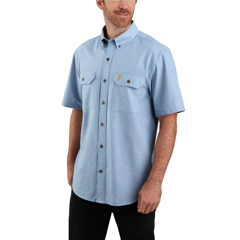 CARHARTT Men's Original Fit Short-Sleeve Shirt - CBL CHAMBRAY BLUE