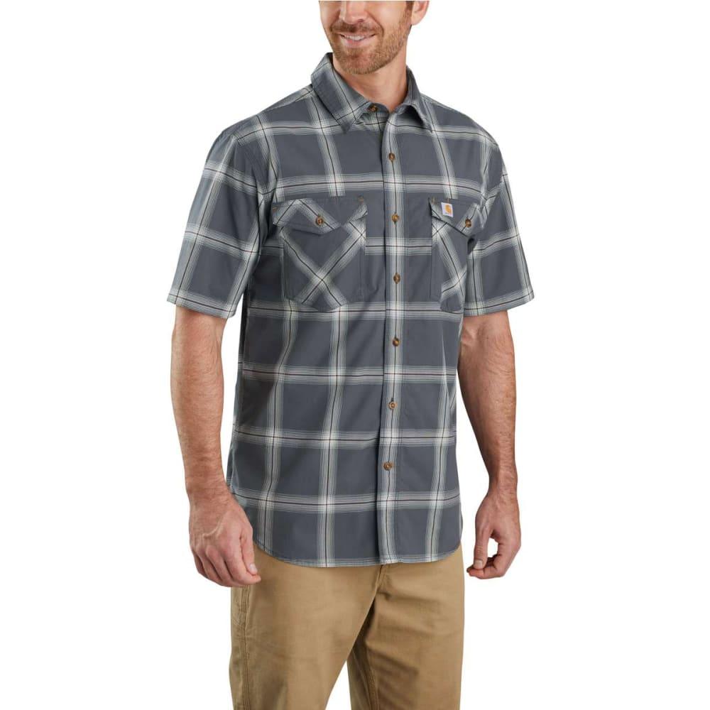 CARHARTT Men's Rugged Flex Relaxed Fit Short-Sleeve Shirt - 029 SHADOW