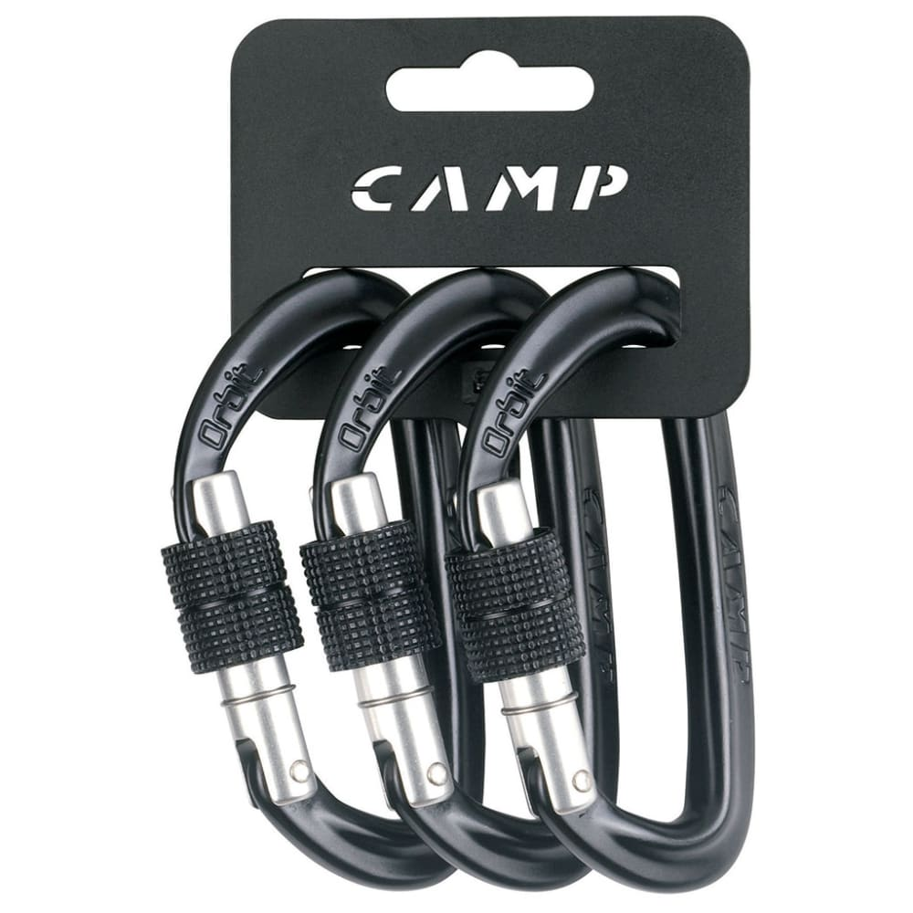 CAMP USA Orbit Lock, 3-Pack - GUN METAL