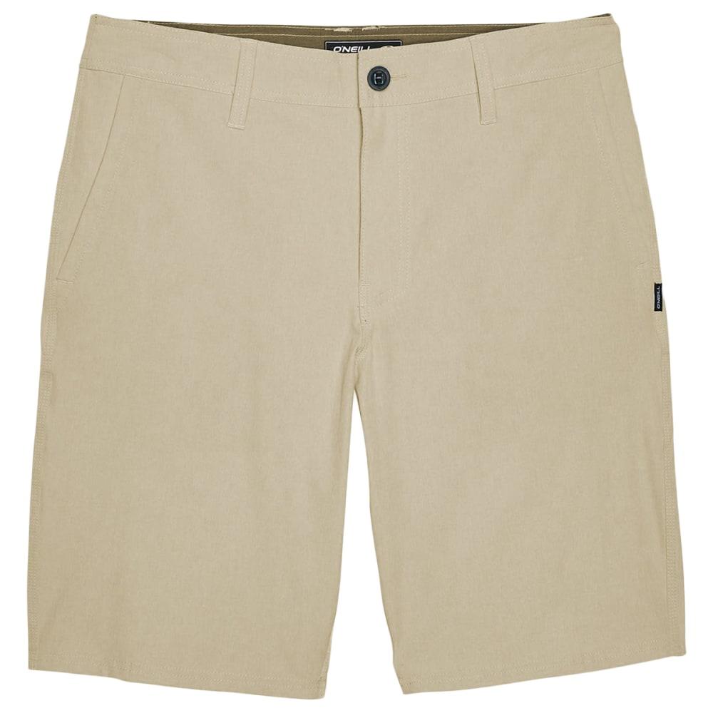 O'NEILL Men's Reserve Heather Hybrid Shorts - KHAKI