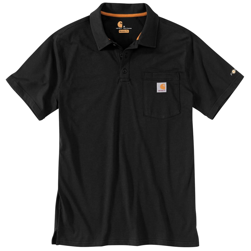 CARHARTT Men's Force Relaxed Fit Midweight Short-Sleeve Pocket Polo M