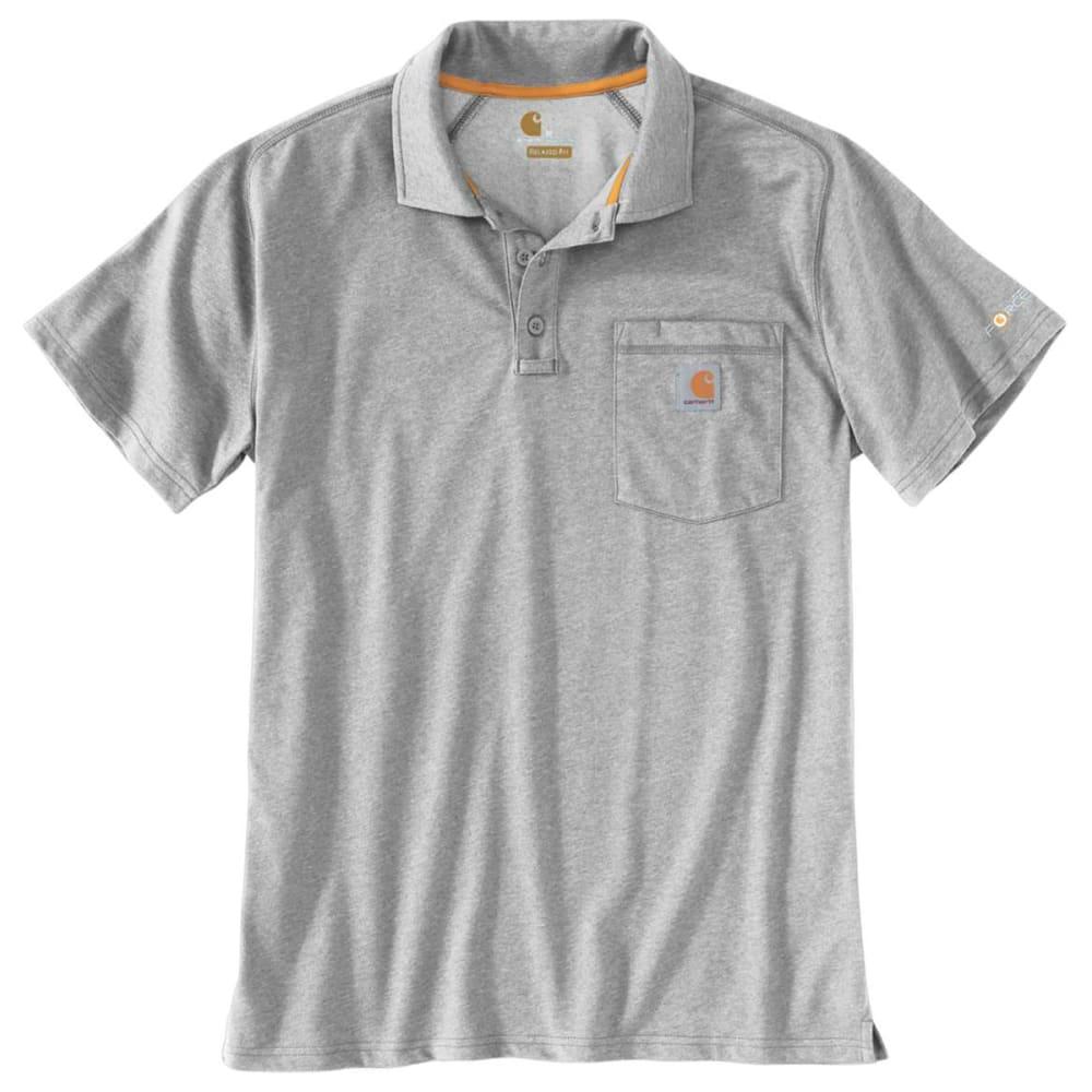 CARHARTT Men's Cotton Delmont Pocket Polo - 034 H GREY