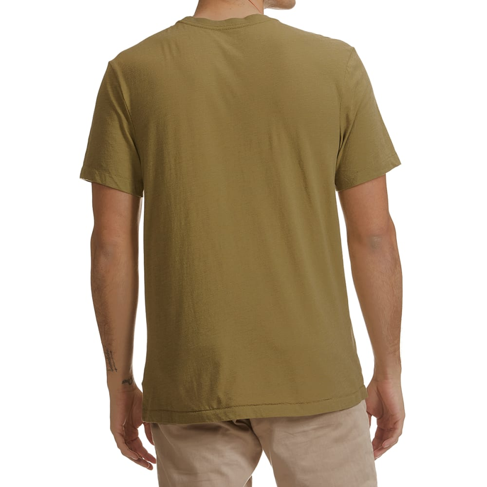 LIFE IS GOOD Men's Bike More Worry Less Short-Sleeve Crusher Tee - FATIGUE GREEN