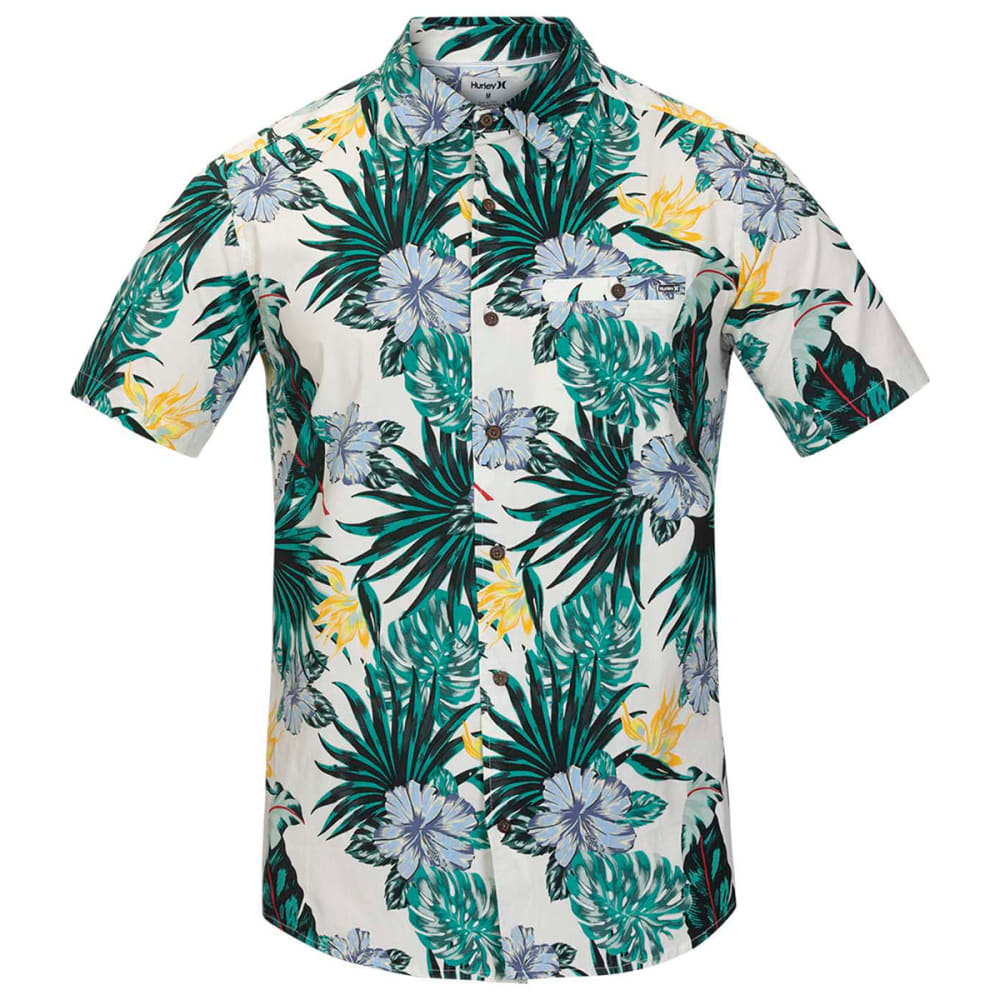 HURLEY Men's Short-Sleeve Lanai Stretch Button-Down S