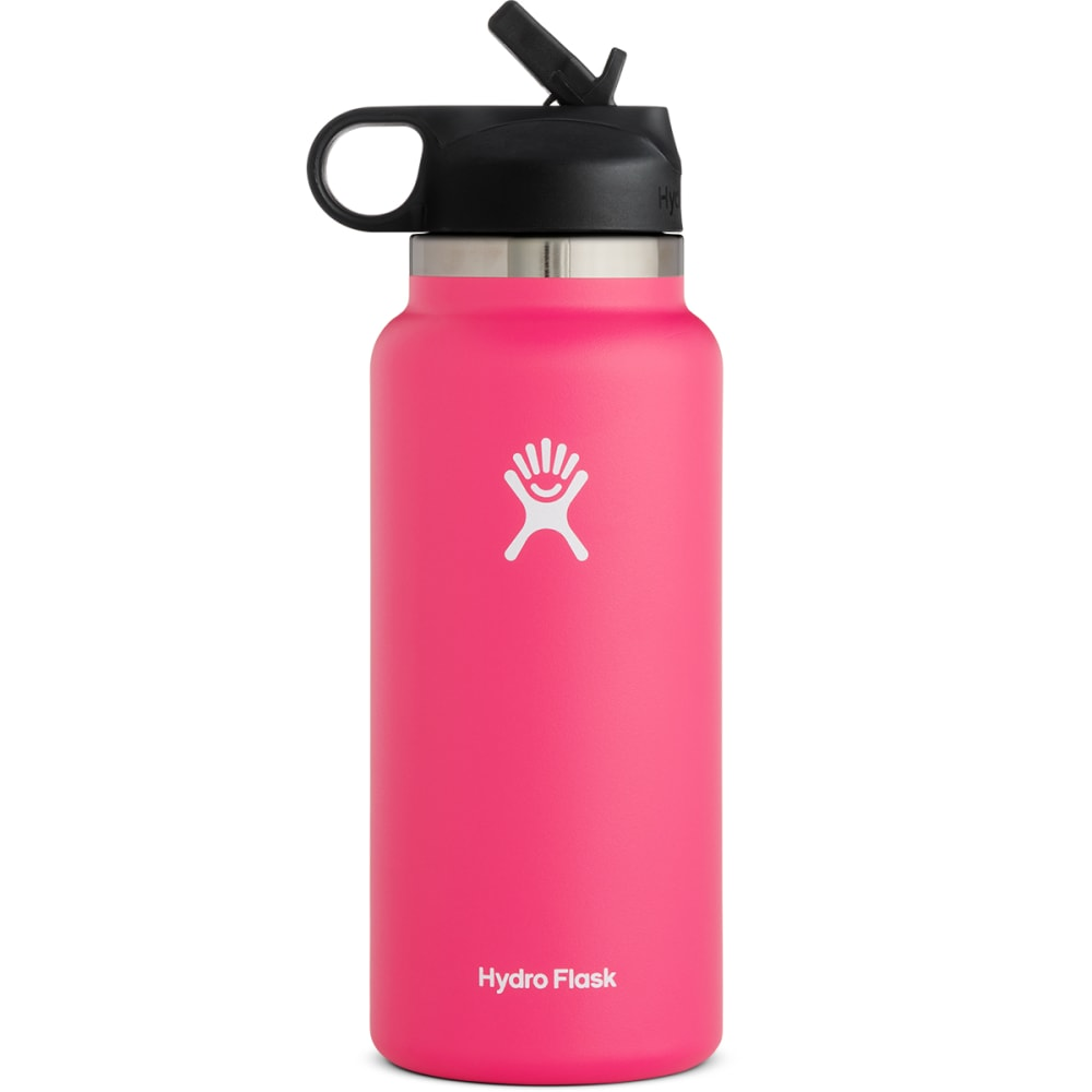 HYDRO FLASK 32oz. Wide Mouth Bottle with Straw Lid - WATERMELON