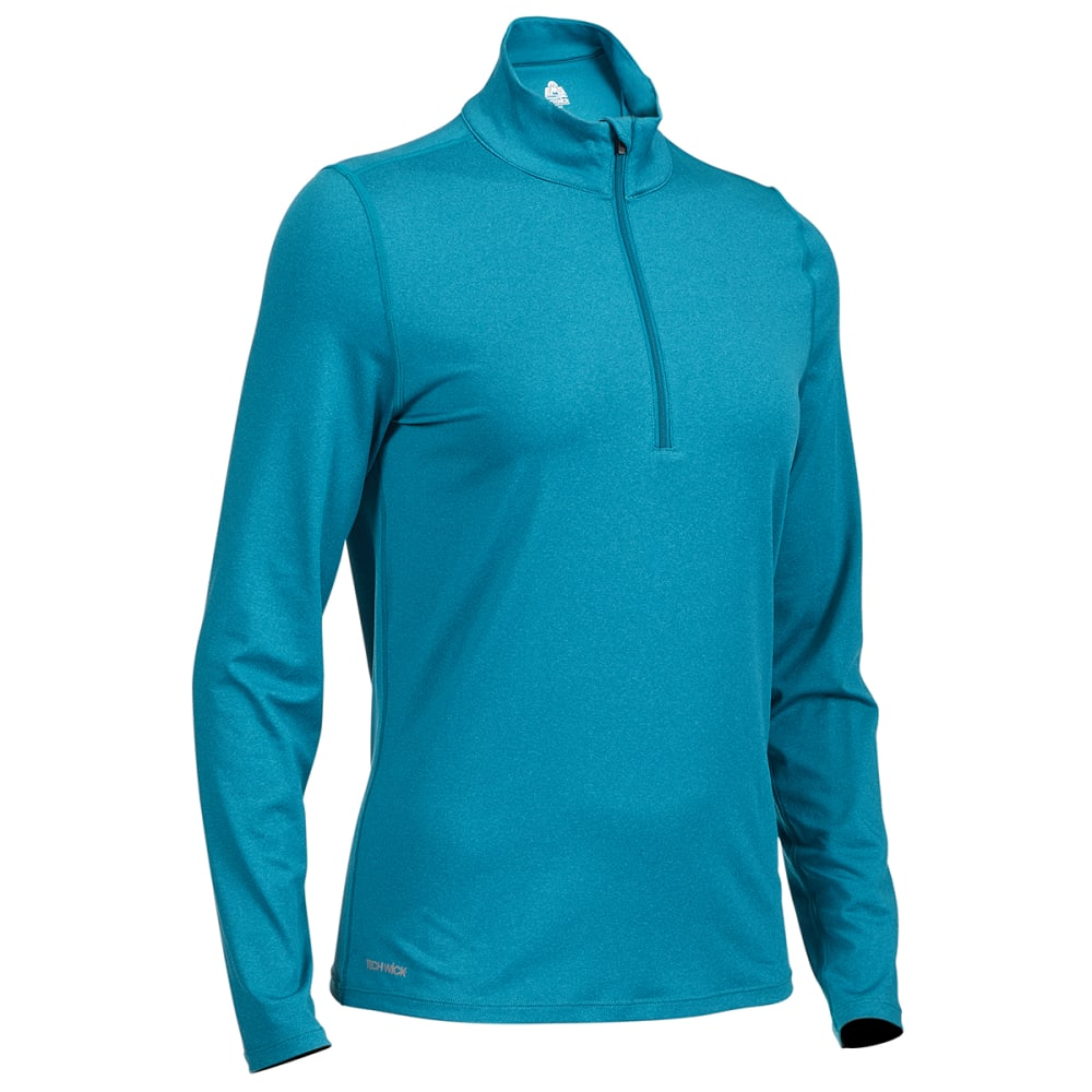 EMS Women's Long-Sleeve Essence Peak Quarter-Zip Technical Top - DEEP LAGOON