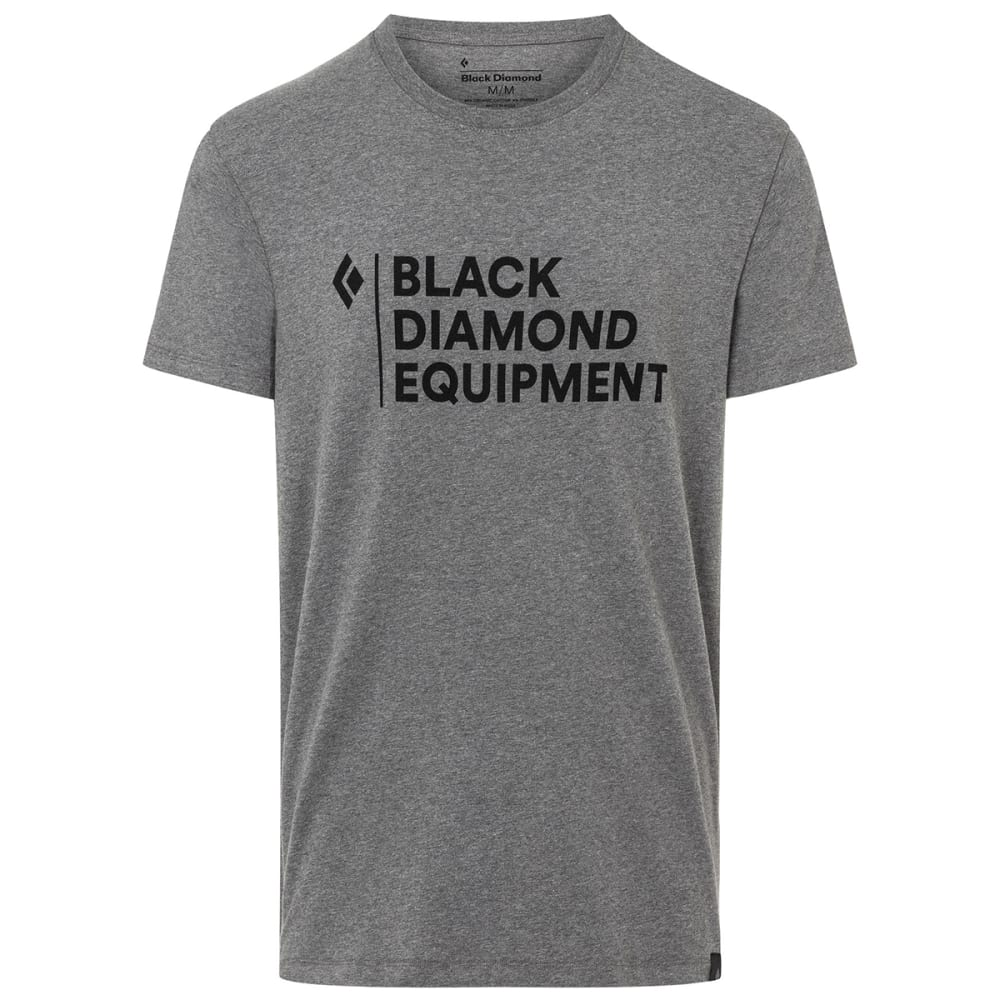 BLACK DIAMOND Men's Stacked Logo Short-Sleeve Tee - CHARCOAL