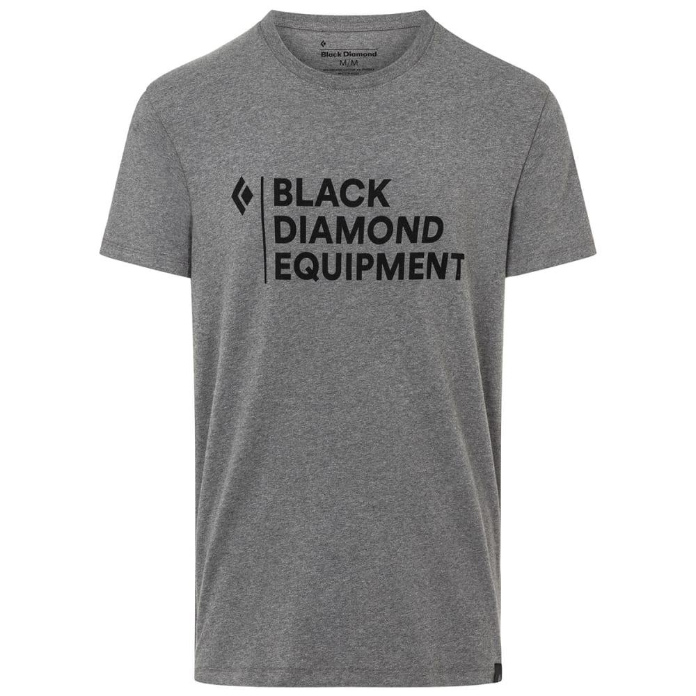 BLACK DIAMOND Men's Stacked Logo Short-Sleeve Tee - CHARCOAL