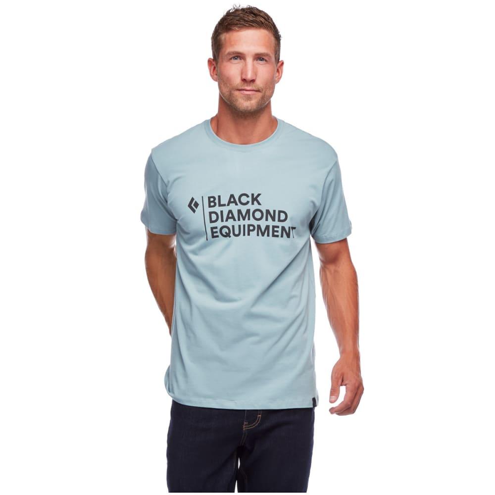 BLACK DIAMOND Men's Stacked Logo Short-Sleeve Tee - BLUE ASH