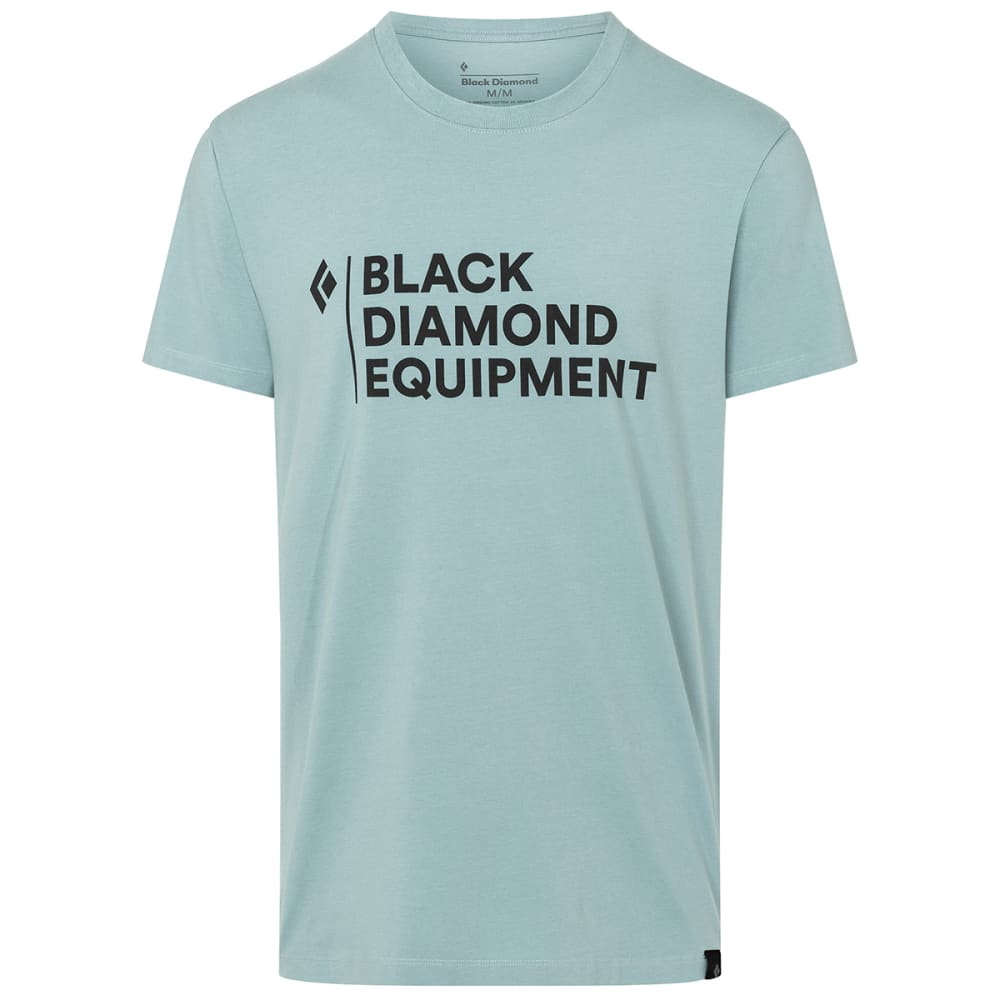 BLACK DIAMOND Men's Stacked Logo Short-Sleeve Tee S
