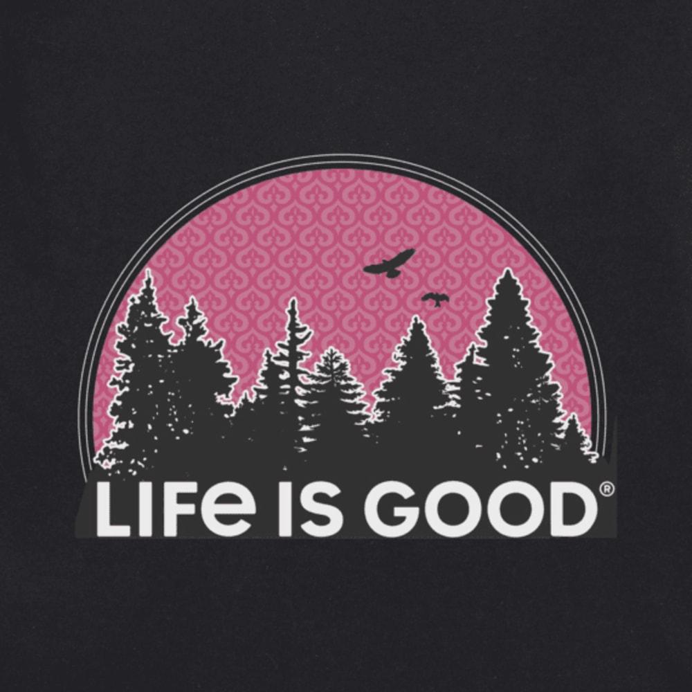 LIFE IS GOOD Women's Funky Outdoor Pattern Crusher Tee - JET BLACK