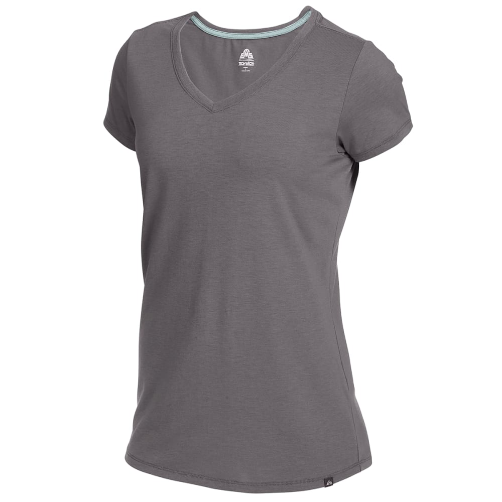EMS Women's Vital Peak Short-Sleeve V-Neck Tee - TORNADO