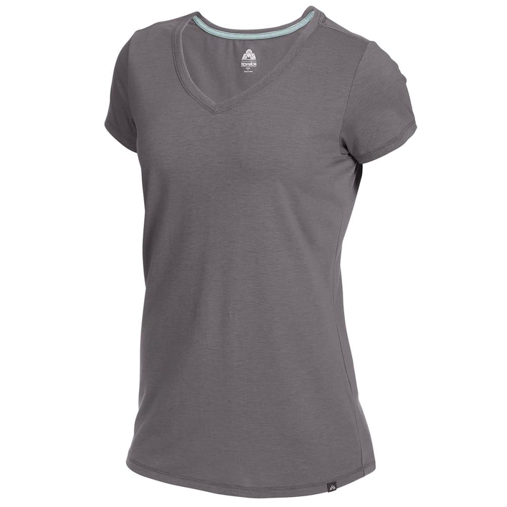EMS Women's Vital Peak Short-Sleeve V-Neck Tee - TORNADO