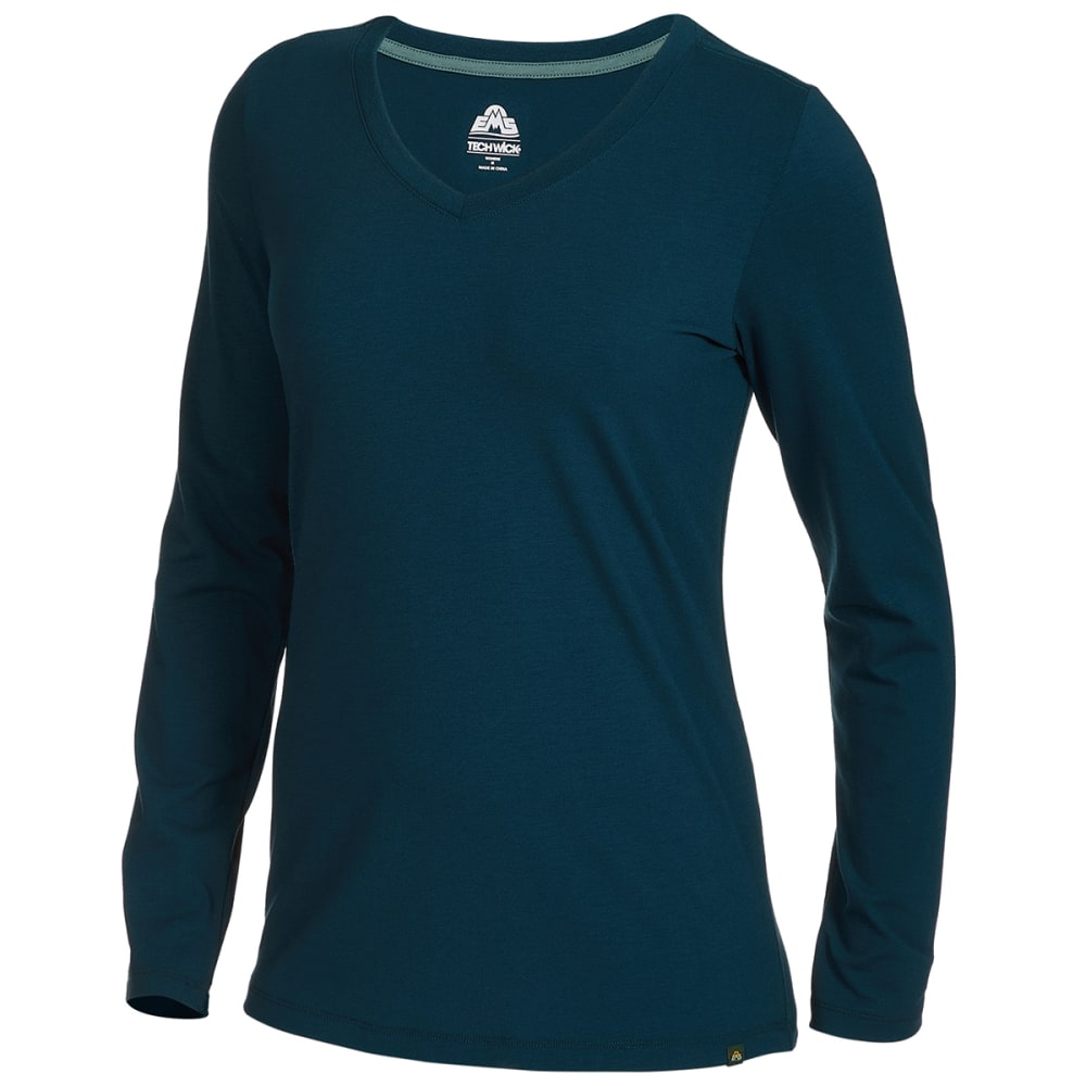 EMS Women's Vital Peak Long-Sleeve V-Neck Tee XS