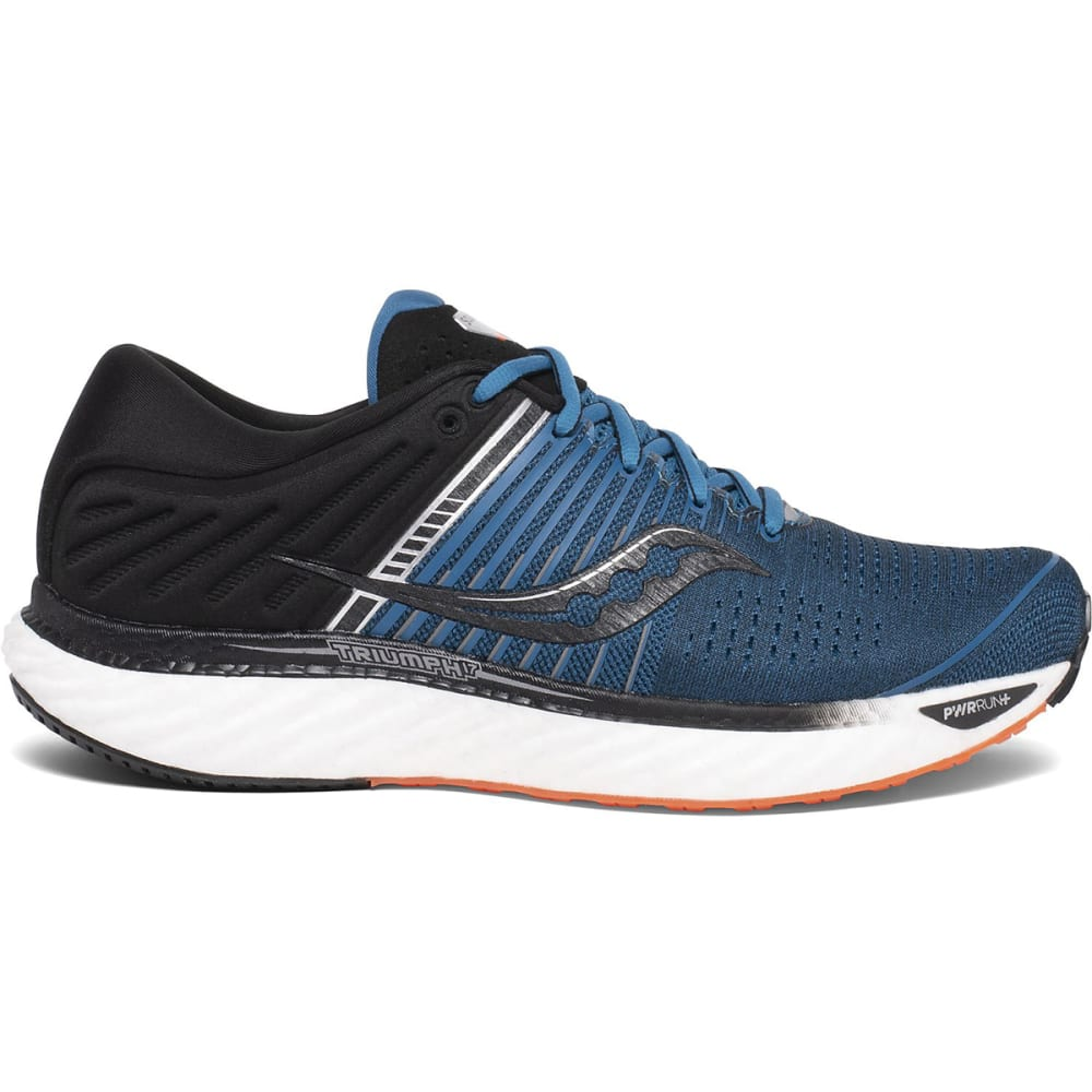 SAUCONY Men's Triumph 17 Running Shoe, WIDE - BLU/BLK-25