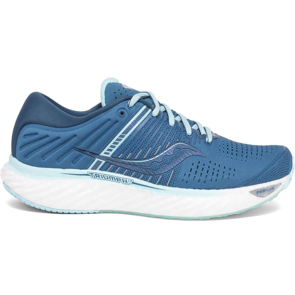SAUCONY Women's Triumph 17 Running Shoes - BLU/BLK-25