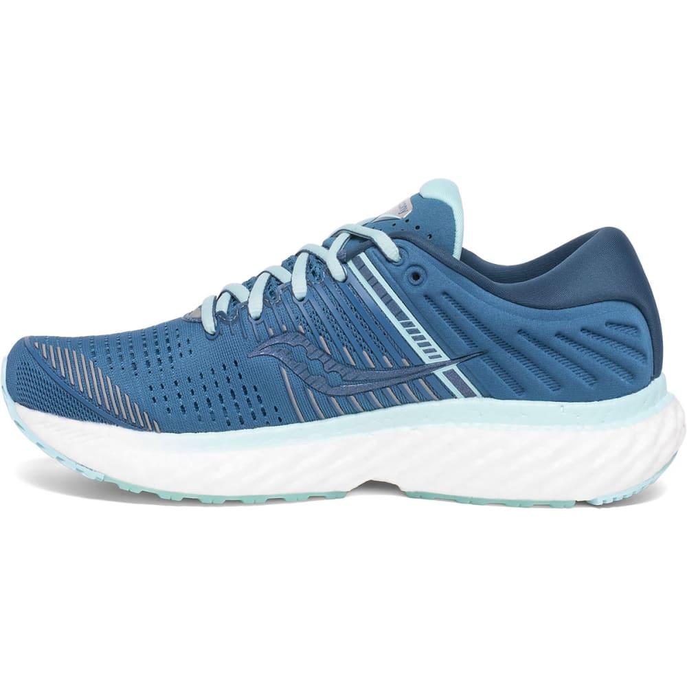 SAUCONY Women's Triumph 17 Running Shoe, WIDE - BLU/BLK-25