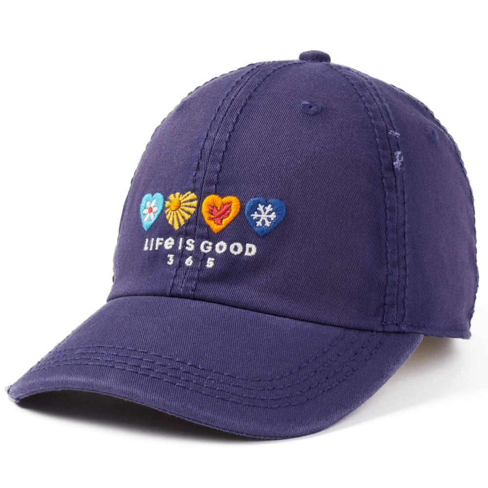 LIFE IS GOOD Women's 365 Hearts Chill Adjustable Cap - DARKEST BLUE