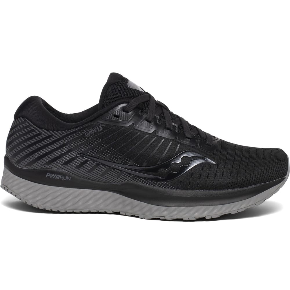 SAUCONY Women's Guide 13 Running Shoes, Wide - BLACK-35