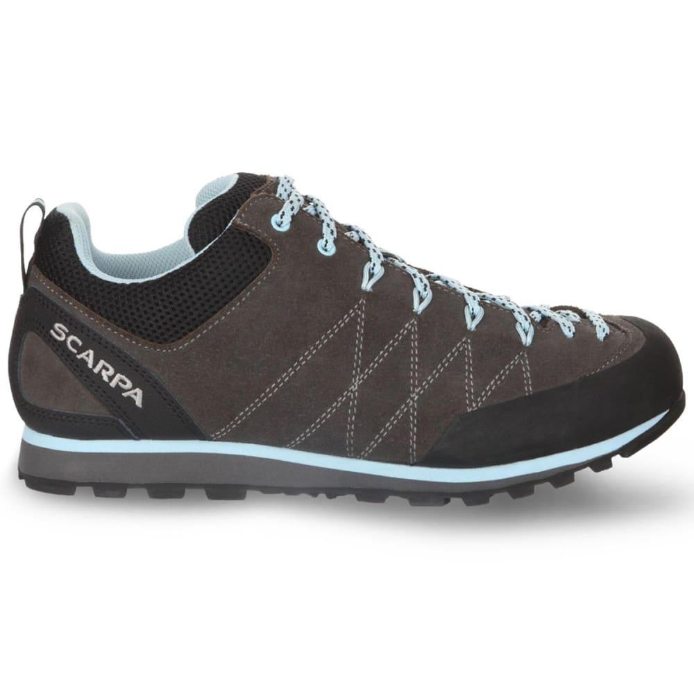 SCARPA Women's Crux Approach Shoe - SHARK/BLUE RADIANCE