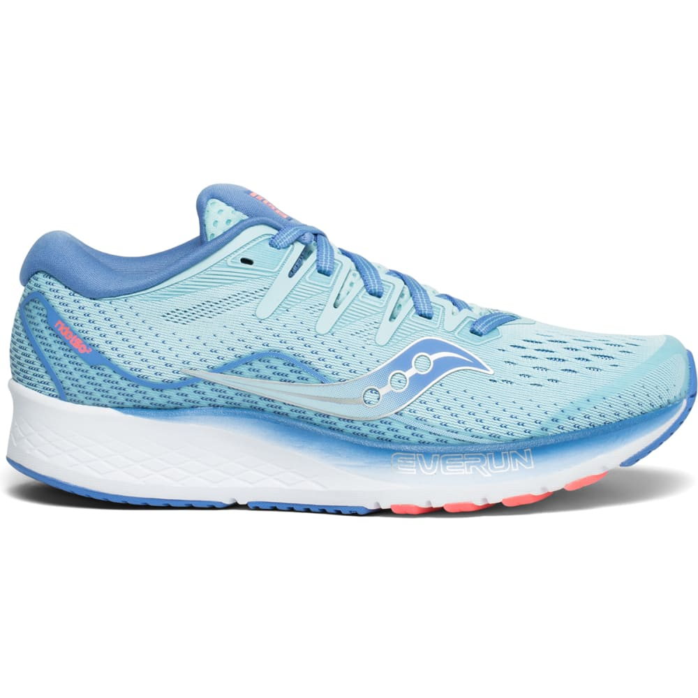 SAUCONY Women's Ride ISO 2 Running Shoes - LIGHT BLUE-1