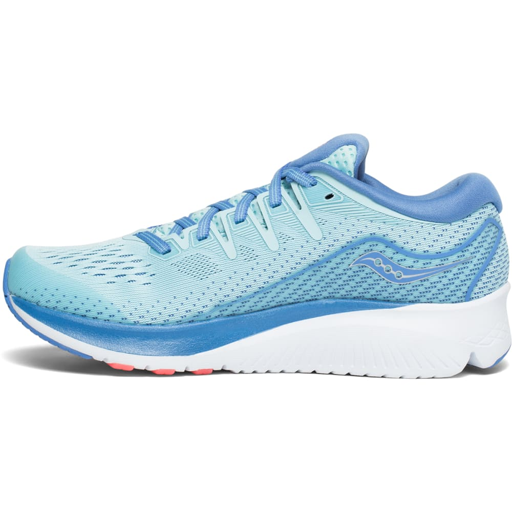 SAUCONY Women's Ride ISO 2 Running Shoes, Wide - LIGHT BLUE-1
