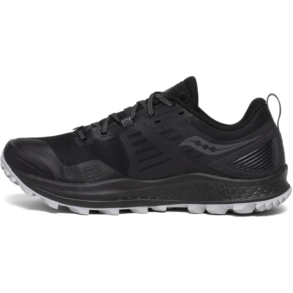 SAUCONY Men's Peregrine 10 Trail Running Shoe - BLK/RED-20