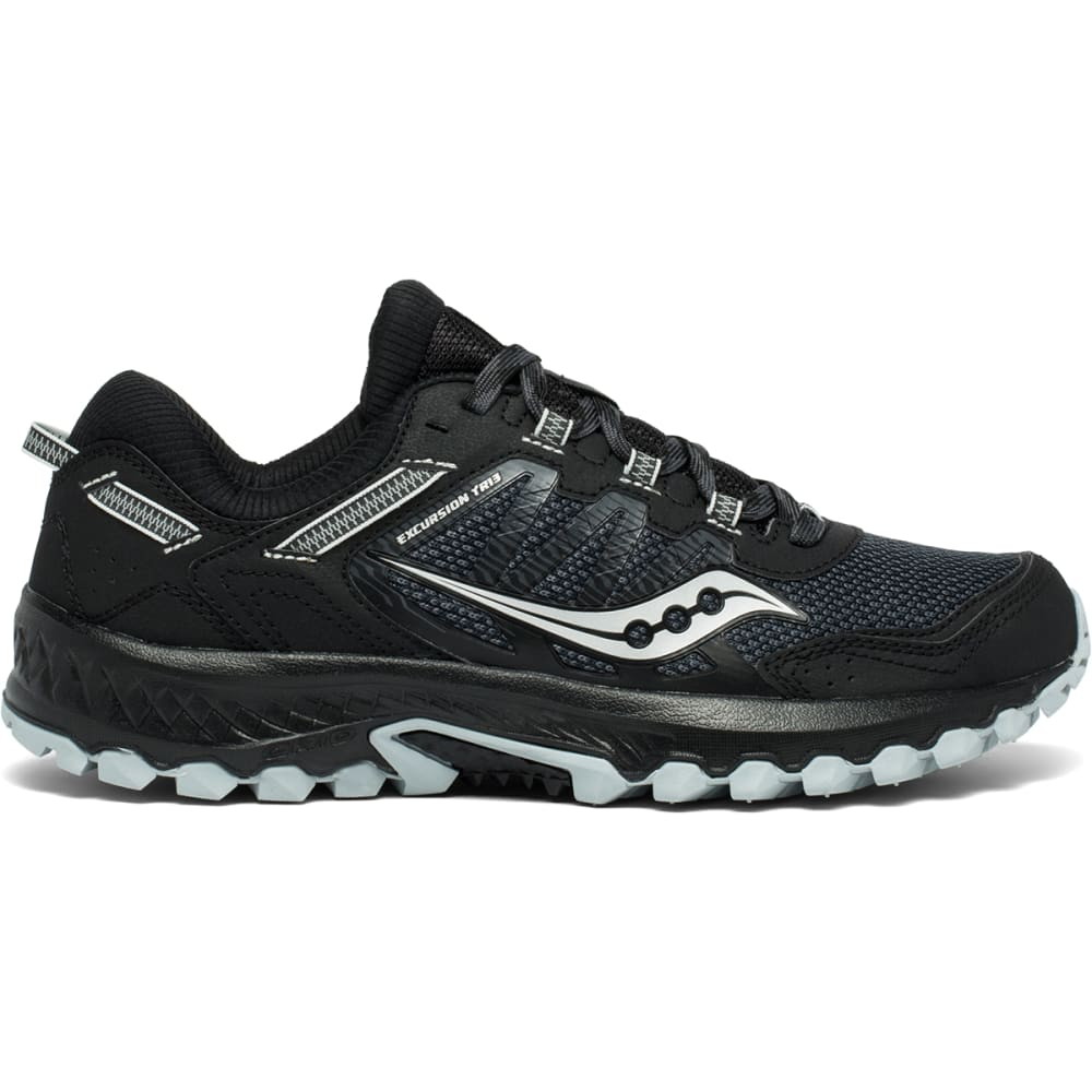 SAUCONY Men's Excursion TR13 Trail Running Shoe, WIDE - BLACK-1