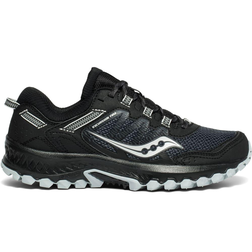 SAUCONY Women's Excursion TR13 Trail Running Shoe - BLACK-1