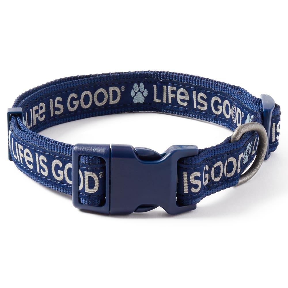 Life Is Good Paw Dog Collar - DARKEST BLUE