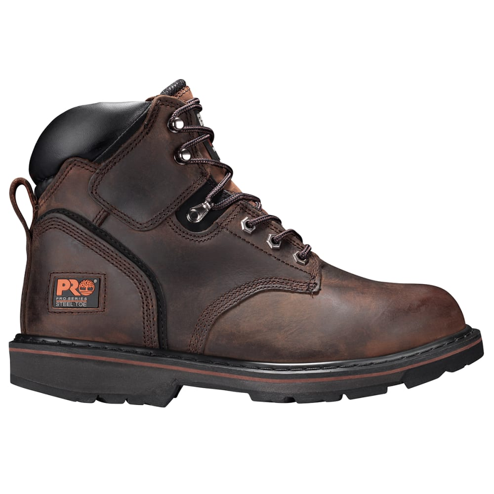 """TIMBERLAND PRO Men's Pit Boss 6"""" Welted Steel Toe Work Boots, Wide - BROWN 214"""