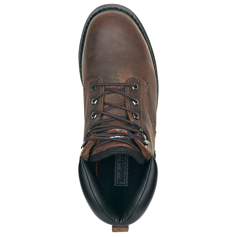 "TIMBERLAND PRO Men's Pit Boss 6"" Welted Steel Toe Work Boots, Wide - BROWN 214"