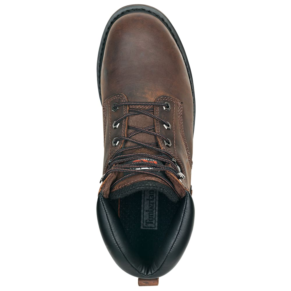 """TIMBERLAND PRO Men's Pit Boss 6"""" Steel Toe Work Boots - 214 BROWN"""