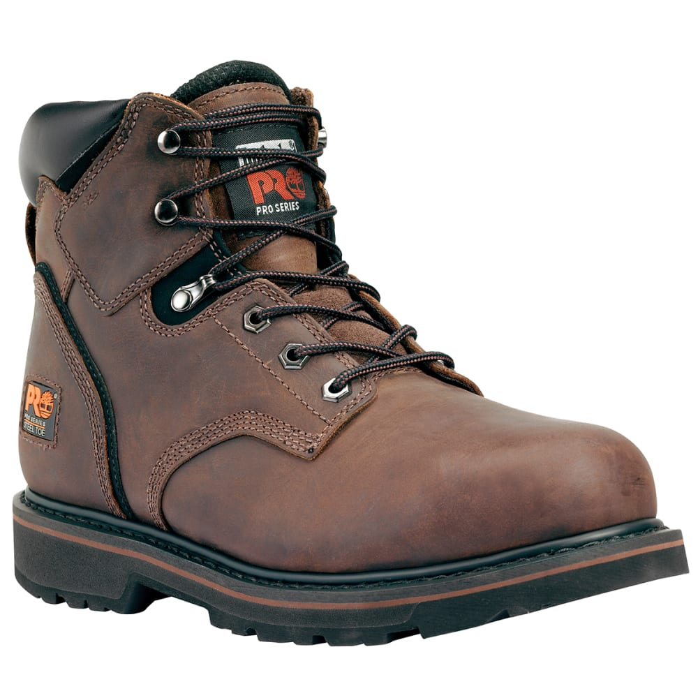 "TIMBERLAND PRO Men's Pit Boss 6"" Steel Toe Work Boots - 214 BROWN"