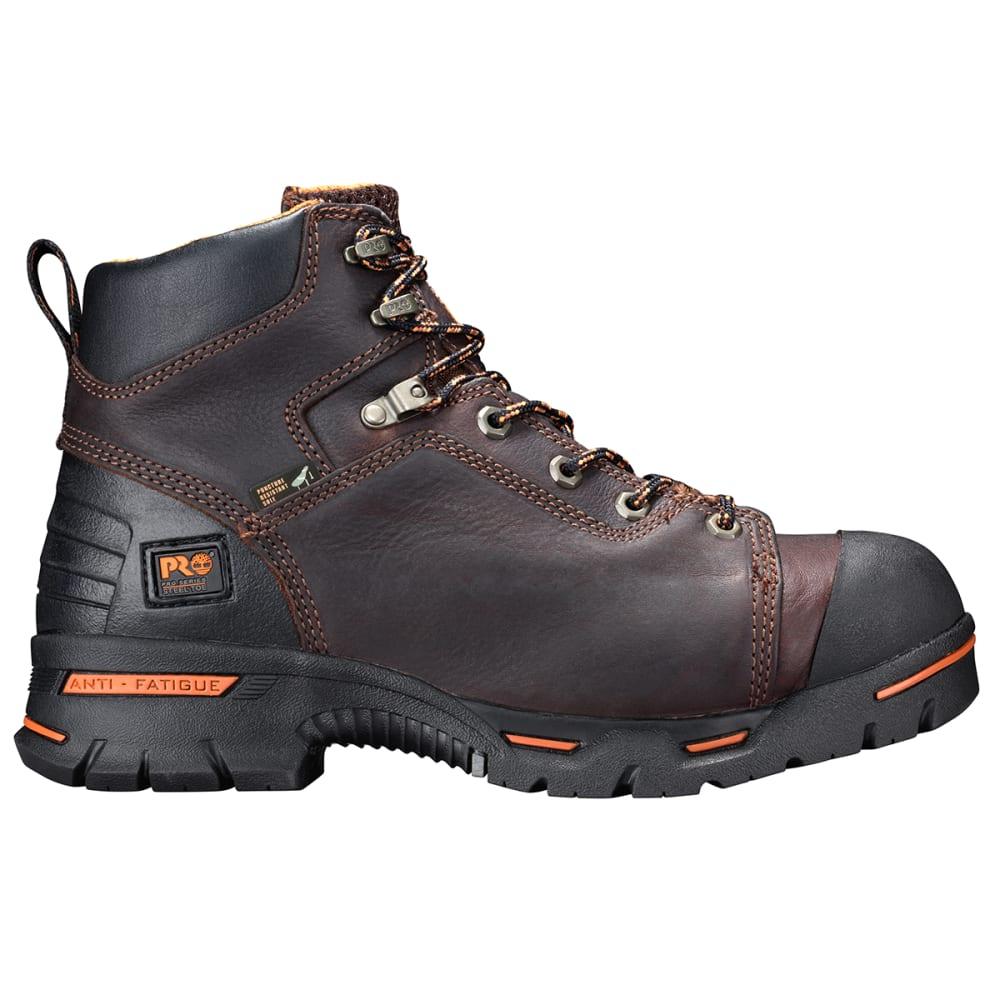 "TIMBERLAND PRO Men's Endurance PR 6"" Steel Toe Work Boots, Wide - BROWN"