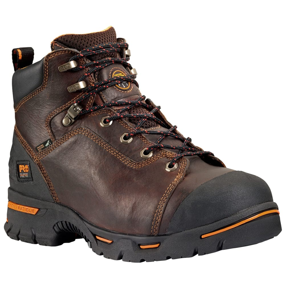 "TIMBERLAND PRO Men's Endurance PR 6"" Steel Toe Work Boots - BROWN 214"